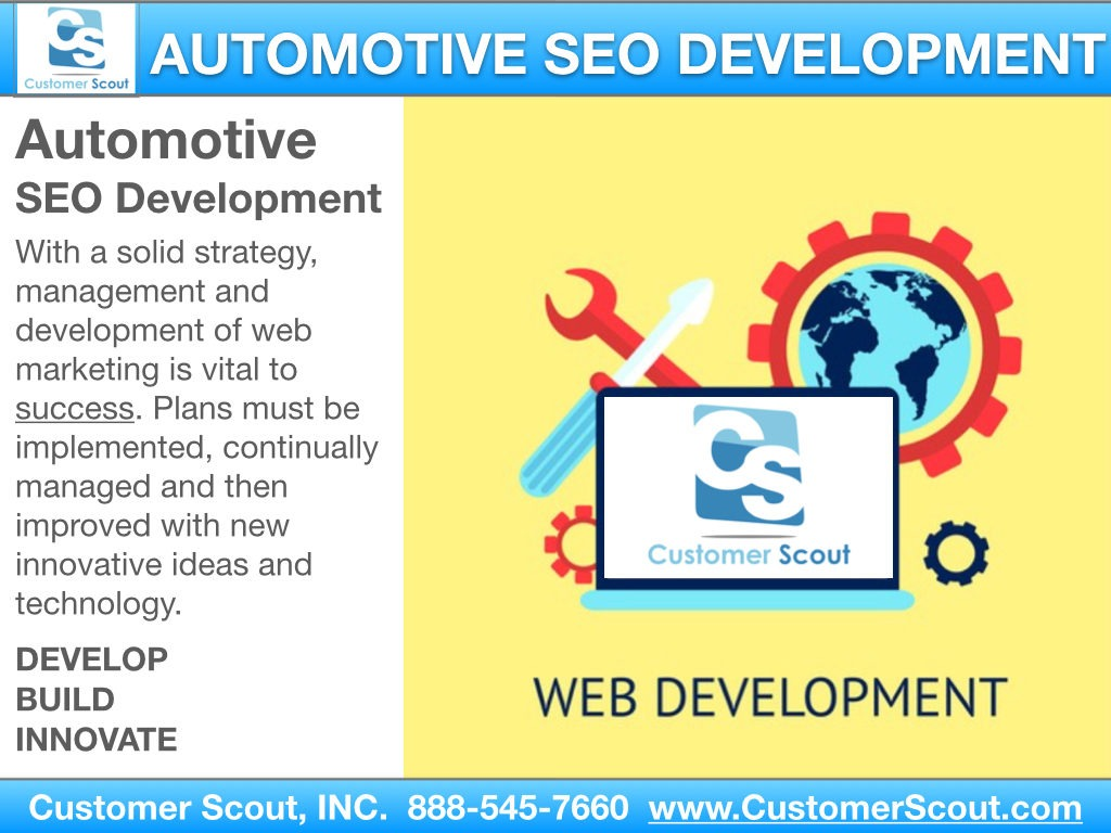 Customer Scout Automotive SEO Development