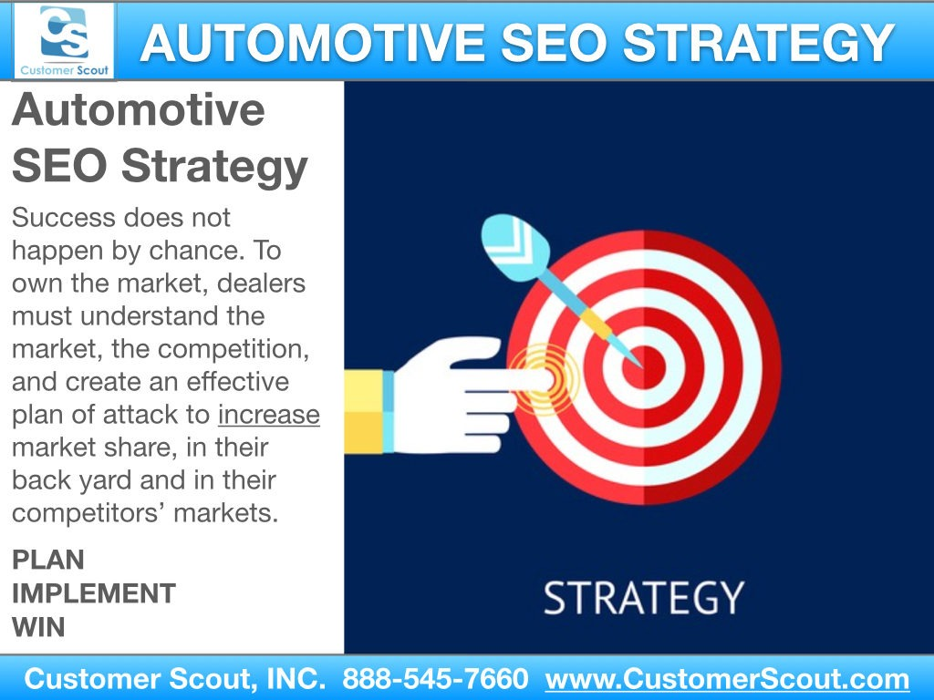 Customer Scout Automotive SEO Strategy