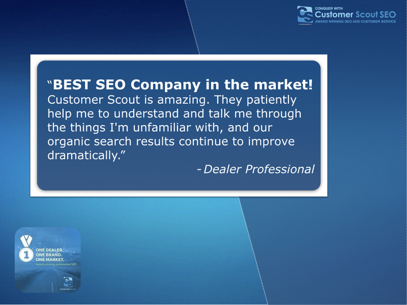 Automotive SEO Reviews Customer Scout