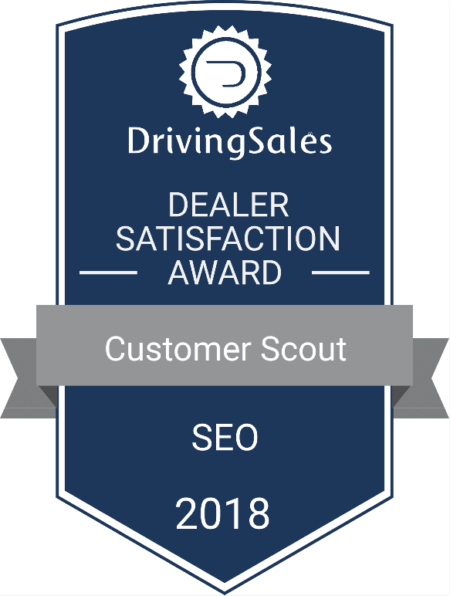 Ranked 1 in Dealer Satisfaction Customer Scout SEO wins award